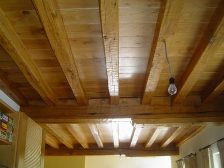 Houten planchetten plafond